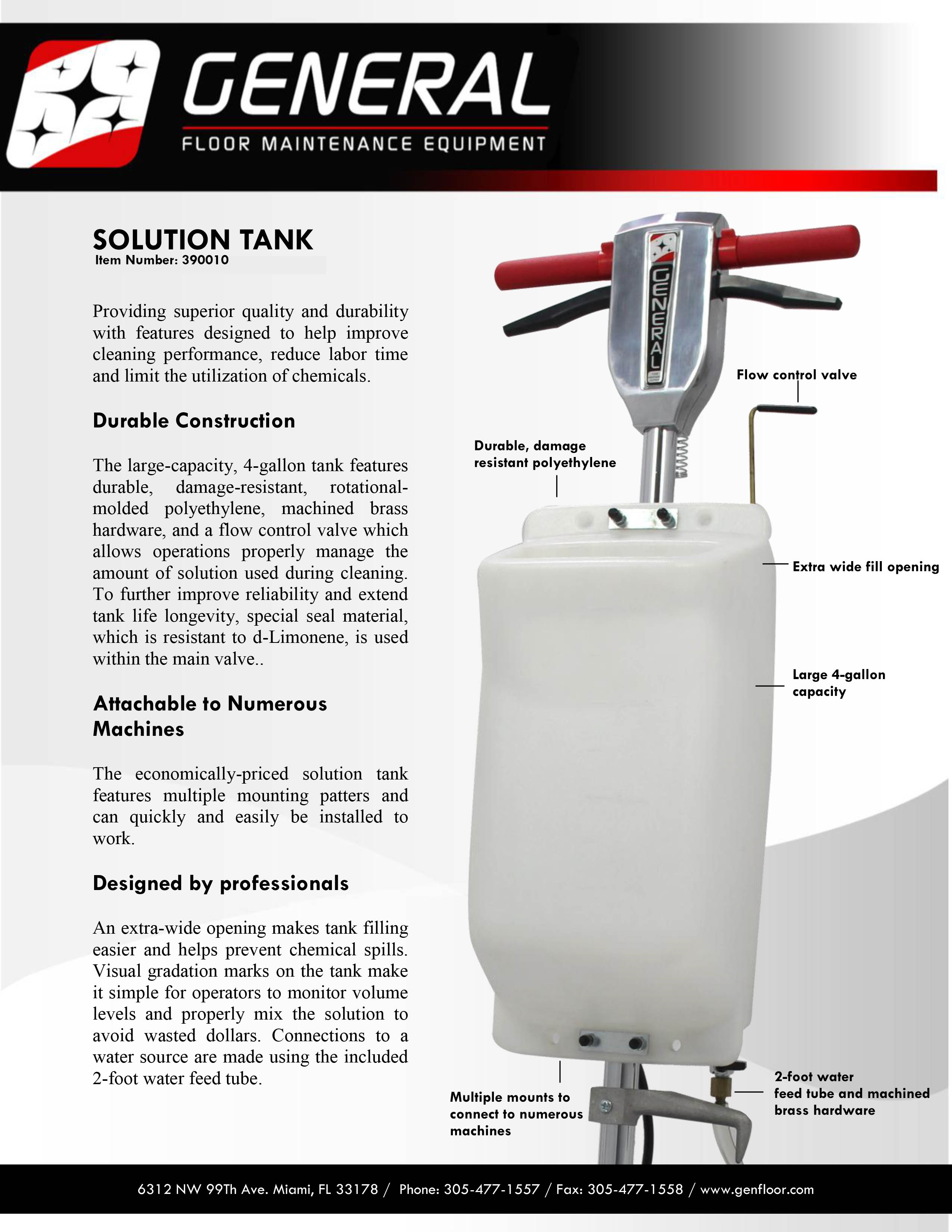 SOLUTION TANKS